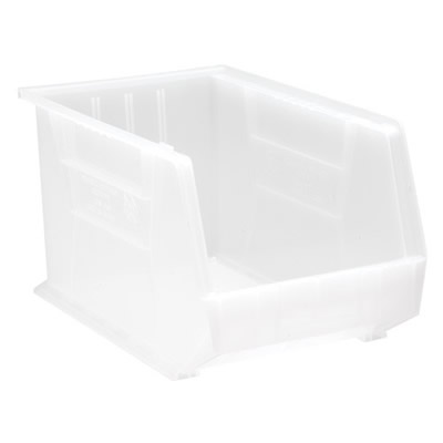 "18"" L x 11"" W x 10"" Hgt. Clear-View Quantum® Clear-View Ultra Series Stack & Hang Bin"