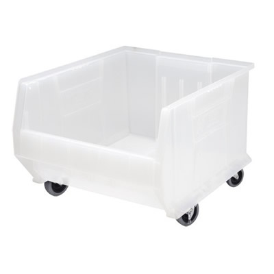 "23-7/8"" L x 18-1/4"" W x 12"" Hgt. Clear-View Mobile HULK Bin"