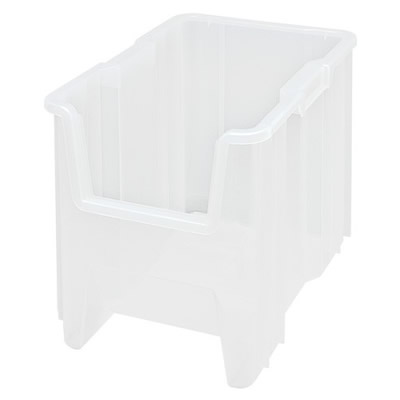 """17-1/2""""L x 10-7/8""""W x 12-1/2""""H Clear Quantum® Giant Stack Container"""