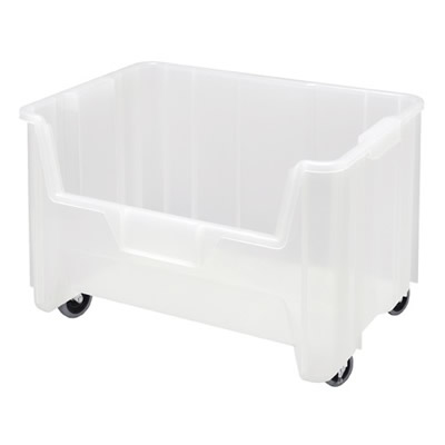 """15-1/4"""" L x 19-7/8"""" W x 12-7/16"""" Hgt. Clear Quantum® Giant Stack Mobile Container"""
