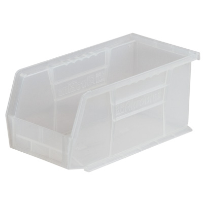 "10-7/8"" L x 5-1/2"" W x 5"" Hgt. OD Clear Storage Bin"
