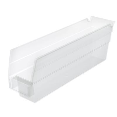 """11-5/8"""" L x 2-3/4"""" W x 4"""" Hgt. OD Akro-Mils® Clear Storage Shelf Bin"""