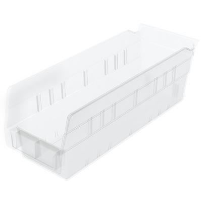 """4-1/8""""W x 4""""H x 11-5/8""""L OD Akro-Mils® Clear Storage Shelf Bin"""