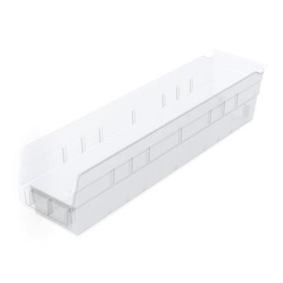 """4-1/8""""W x 4""""H x 17-7/8""""L OD Akro-Mils® Clear Storage Shelf Bin"""