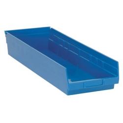 "23-5/8"" L x 8-3/8"" W x 4"" Hgt. Blue Quantum® Economy Shelf Bin"