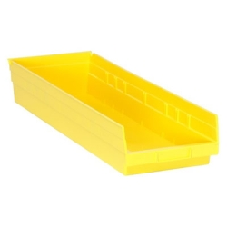 "23-5/8"" L x 8-3/8"" W x 4"" Hgt. Yellow Quantum® Economy Shelf Bin"