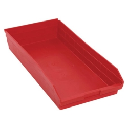 "23-5/8"" L x 11-1/8"" W x 4"" Hgt. Red Quantum® Economy Shelf Bin"