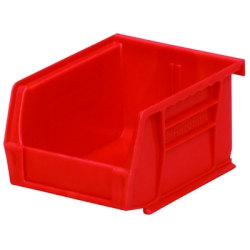 "5-3/8"" L x 4-1/8"" W x 3"" Hgt. OD Red Storage Bin"