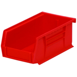 "7-3/8"" L x 4-1/8"" W x 3"" Hgt. OD Red Storage Bin"