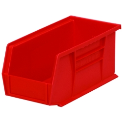 "10-7/8"" L x 5-1/2"" W x 5"" Hgt. OD Red Storage Bin"