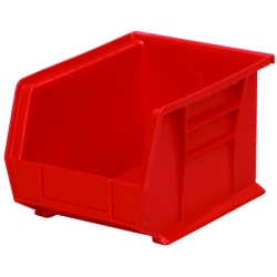 "10-3/4"" L x 8-1/4"" W x 7"" Hgt. OD Red Storage Bin"