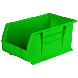 "14-3/4"" L x 8-1/4"" W x 7"" Hgt. OD Green Storage Bin"