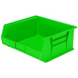 "14-3/4"" L x 16-1/2"" W x 7"" Hgt. OD Green Storage Bin"