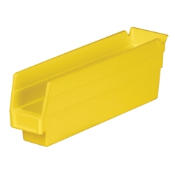 "11-5/8"" L x 2-3/4"" W x 4"" H Yellow Akro-Mils® Shelf Bin"