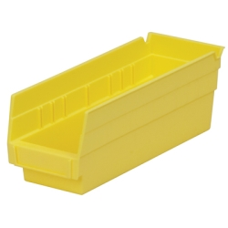 "11-5/8"" L x 4-1/8 W x 4"" H Yellow Akro-Mils® Shelf Bin"