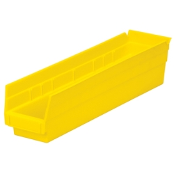 "17-7/8"" L x 4-1/8"" W x 4"" Hgt. Yellow Akro-Mils® Shelf Bin"