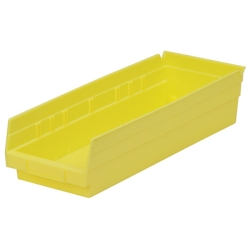 "17-7/8"" L x 6-5/8"" W x 4"" Hgt. Yellow Akro-Mils® Shelf Bin"