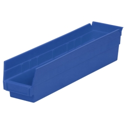"17-7/8"" L x 4-1/8""W x 4""H Blue Akro-Mils® Shelf Bin"