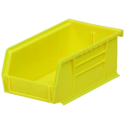 "7-3/8"" L x 4-1/8"" W x 3"" Hgt. OD Yellow Storage Bin"