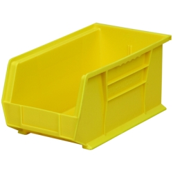 "14-3/4"" L x 8-1/4"" W x 7"" Hgt. OD Yellow Storage Bin"