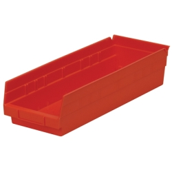 "17-7/8"" L x 6-5/8"" W x 4"" Hgt. Red Akro-Mils® Shelf Bin"