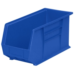 "18"" L x 8-1/4"" W x 9"" Hgt. OD Blue Storage Bin  *Not designed for hanging system."