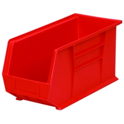 "18""L x 8-1/4""W x 9""H OD Red Storage Bin  *Not designed for hanging system."