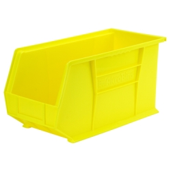 "18""L x 8-1/4""W x 9""H OD Yellow Storage Bin  * Not designed for hanging system."