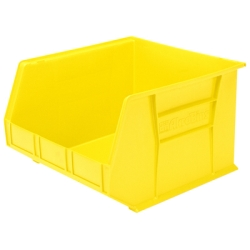 "18""L x 16-1/2""W x 11""H OD Yellow Storage Bin  *Not designed for hanging systems."