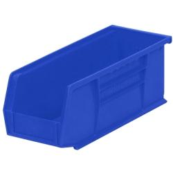 """10-7/8"""" L x 4-1/8"""" W x 4"""" Hgt. OD Blue Storage Bin"""