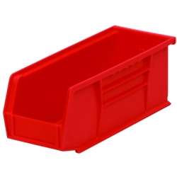 "10-7/8"" L x 4-1/8"" W x 4"" Hgt. OD Red Storage Bin"