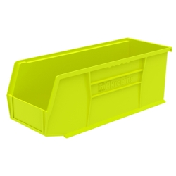 "10-7/8"" L x 4-1/8"" W x 4"" Hgt. OD Yellow Storage Bin"