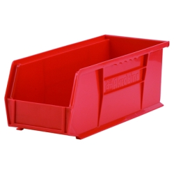 "14-3/4"" L x 5-1/2"" W x 5"" Hgt. OD Red Storage Bin"