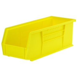 "14-3/4"" L x 5-1/2"" W x 5"" Hgt. OD Yellow Storage Bin"