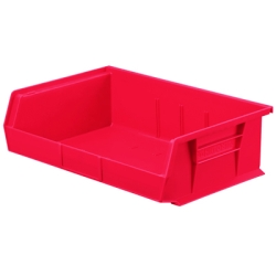 "10-7/8"" L x 16-1/2"" W x 5"" Hgt. OD Red Storage Bin"