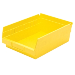 "11-5/8"" L x 8-3/8"" W x 4"" H Yellow Akro-Mils® Shelf Bin"