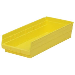"17-7/8"" L x 8-3/8"" W x 4"" Hgt. Yellow Akro-Mils® Shelf Bin"