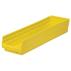 "23-5/8"" L x 6-5/8"" W x 4"" H Yellow Akro-Mils® Shelf Bin"