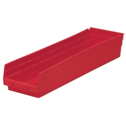 "23-5/8"" L x 6-5/8"" W x 4"" Hgt. Red Akro-Mils® Shelf Bin"