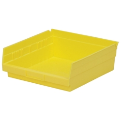 "11-5/8"" L x 11-1/8"" W x 4"" Hgt. Yellow Akro-Mils® Shelf Bin"