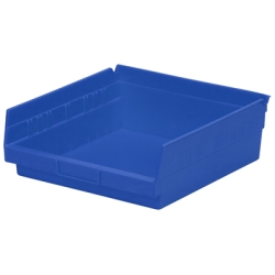 "11-5/8"" L x 11-1/8"" W x 4"" H Blue Akro-Mils® Shelf Bin"