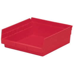 "Red Akro-Mils® Shelf Bin - 11-5/8"" L x 11-1/8"" W x 4"" Hgt."