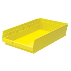 "17-7/8"" L x 11-1/8"" W x 4"" Hgt. Yellow Akro-Mils® Shelf Bin"