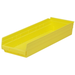 "23-5/8"" L x 8-3/8"" W x 4"" H Yellow Akro-Mils® Shelf Bin"