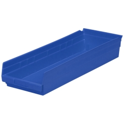 "23-5/8"" L x 8-3/8"" W x 4"" H Blue Akro-Mils® Shelf Bin"