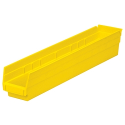 "23-5/8"" L x 4-1/8"" W x 4"" Hgt. Yellow Akro-Mils® Shelf Bin"