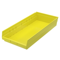 "Yellow Akro-Mils® Shelf Bin - 23-5/8"" L x 11-1/8"" W x 4"" Hgt."