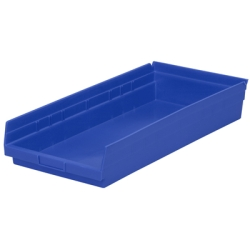 "23-5/8"" L x 11-1/8""W x 4""H Blue Akro-Mils® Shelf Bin"