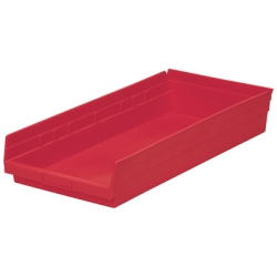 "23-5/8"" L x 11-1/8"" W x 4"" Hgt. Red Akro-Mils® Shelf Bin"
