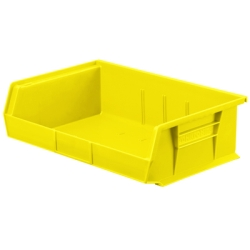 "10-7/8"" L x 16-1/2"" W x 5"" Hgt. OD Yellow Storage Bin"